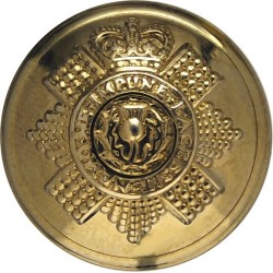 Scots Guards 23.5mm with Queen Elizabeth's Crown. Brass Military uniform button