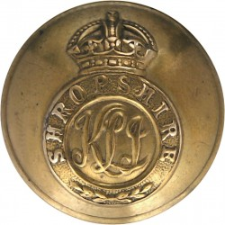 King's Shropshire Light Infantry - Rimmed 26mm - Pre-C.1946 with King's Crown. Brass Military uniform button