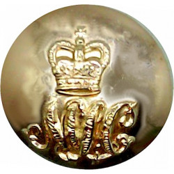 47 (Middlesex Yeomanry) Signal Squadron (V) 19.5mm - Gold Colour with Queen Elizabeth's Crown. Anodised Staybrite military unifo