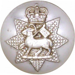 Queen's Royal Surrey Regiment (TA) - 3rd & 4th Bns 25.5mm - 1962-1967 with Queen Elizabeth's Crown. Anodised Staybrite military