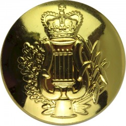 Corps Of Army Music 26mm - Gold Colour with Queen Elizabeth's Crown. Gilt Military uniform button