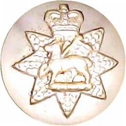 Cambridge University Officers Training Corps 19.5mm - Gold Colour with Queen Elizabeth's Crown. Anodised Staybrite military unif