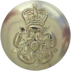 Yorkshire Volunteers 14mm - Gold Colour with Queen Elizabeth's Crown. Anodised Staybrite military uniform button