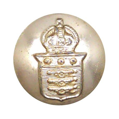 Field Marshal's 25.5mm - Gold Colour with Queen Elizabeth's Crown. Anodised Staybrite military uniform button