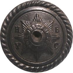 Household Brigade Yacht Club (Roped Rim) 21.5mm - Black  Horn Military uniform button