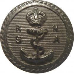 Royal Naval Sailing Association 17.5mm - Black  Horn Military uniform button