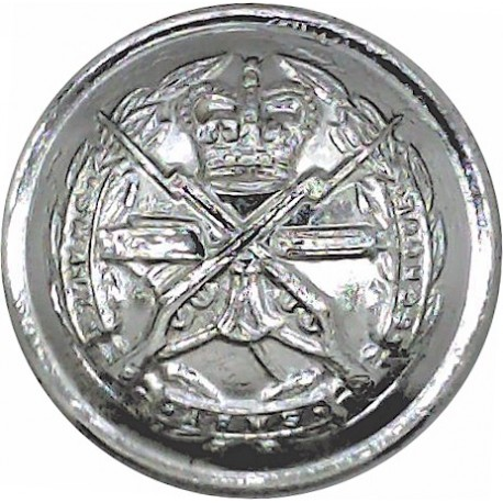 Royal Gibraltar Regiment 25.5mm - Gold Colour  Anodised Staybrite military uniform button