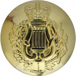 Corps Of Army Music 19mm - Gold Colour with Queen Elizabeth's Crown. Gilt Military uniform button