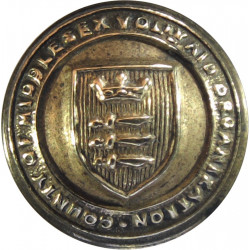 County Of Middlesex Voluntary Aid Organisation 17mm - WW1 VAD  Brass Military uniform button