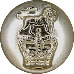 Queen's University Officers Training Corps (Belfast) 19.5mm Silver Colour Anodised Staybrite military uniform button