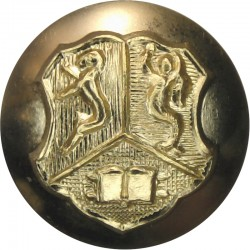 Birmingham University Officers Training Corps 19mm - Gold Colour  Anodised Staybrite military uniform button