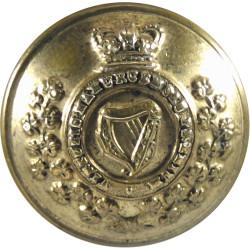 Royal Irish Regiment - 1881-1901 18.5mm with Queen Victoria's Crown. Gilt Military uniform button