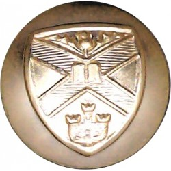 St.Andrew's University Officers Training Corps 19mm - Gold Colour Queen's Crown. Anodised Staybrite military uniform button