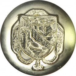 Ulster Defence Regiment 26mm - Gold Colour Queen's Crown. Anodised Staybrite military uniform button