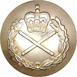 Ulster Defence Regiment 14mm - Gold Colour Queen's Crown. Anodised Staybrite military uniform button