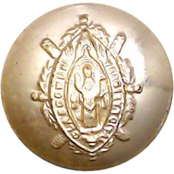 16th/5th The Queen's Royal Lancers 23mm - Gold Colour King's Crown. Anodised Staybrite military uniform button