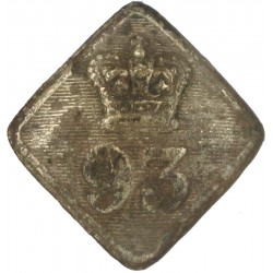93rd (Sutherland Highlanders) Regiment Of Foot Diamond 1855-1856 with Queen Victoria's Crown. Brass Military uniform button