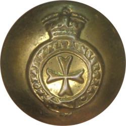 Royal Malta Militia - Jubilee Crown 17mm - 1889-1901 with Queen Victoria's Crown. Brass Military uniform button