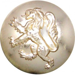 Royal Tank Regiment 25.5mm - Gold Colour with King's Crown. Anodised Staybrite military uniform button