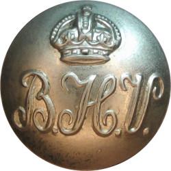 British Honduras Volunteers 18mm - 1905-1916 with King's Crown. White Metal Military uniform button