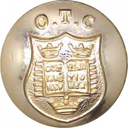 Oxford University Officers Training Corps 19mm - Gold Colour  Anodised Staybrite military uniform button