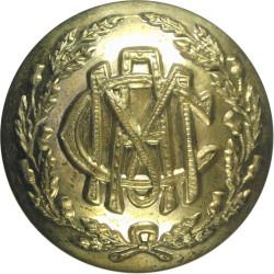 Morrison's Academy Officers' Training Corps 25mm - Edinburgh  Brass Military uniform button