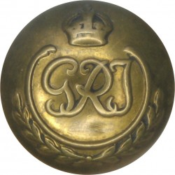 Indian Army (Unattached Officers) - GRI In Wreath 17.5mm - 1936-1947 with King's Crown. Brass Military uniform button