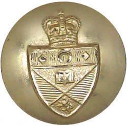 St.Andrew's University Officers Training Corps 19mm - Gold Colour with Queen Elizabeth's Crown. Anodised Staybrite military unif