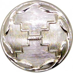 Adjutant General's Corps - 1st Pattern: Death's Head 19.5mm - Gold Colour  Anodised Staybrite military uniform button