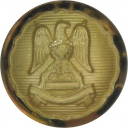 Royal Scots Dragoon Guards - Officers' - Frosted 19.5mm - Ribbed  Gilt Military uniform button