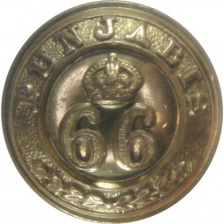 66th Punjabis (Indian Army) - Screw-Fit 19mm - 1903-1922 with King's Crown. Gilt Military uniform button