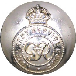 Manchester Regiment - 1953-58 19mm - Gold Colour with Queen Elizabeth's Crown. Anodised Staybrite military uniform button