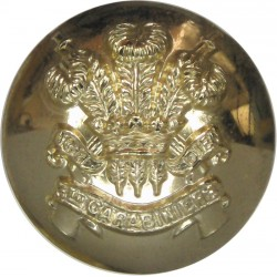 3rd Carabiniers (Prince Of Wales's Dragoon Guards) 25.5mm - Pre-1971  Anodised Staybrite military uniform button