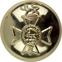 Wessex Regiment (Volunteers) 19.5mm - Gold Colour  Anodised Staybrite military uniform button