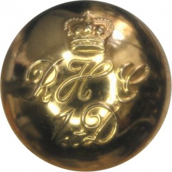 Blues And Royals (Royal Horse Guards & 1st Dragoons) 25.5mm with Queen Elizabeth's Crown. Gilt Military uniform button