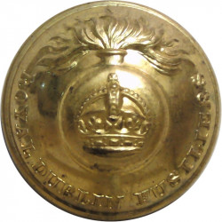 Royal Dublin Fusiliers 25.5mm - 1902-1922 with King's Crown. Gilt Military uniform button