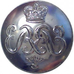 Honourable Artillery Company (Infantry) 19.5mm Silver Colour with Queen Elizabeth's Crown. Anodised Staybrite military uniform b