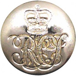 14th/20th King's Hussars (Indented Design) 13mm - Gold Colour with Queen Elizabeth's Crown. Anodised Staybrite military uniform