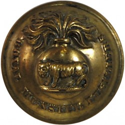 Royal Munster Fusiliers 19mm - 1881-1922  Brass Military uniform button