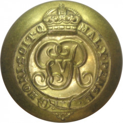 Colonels And Brigadiers - GvR 25.5mm - 1911-1936 with King's Crown. Gilt Military uniform button