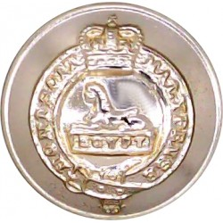 Ayrshire (Earl of Carrick's Own) Yeomanry 19mm - Gold Colour with Queen Elizabeth's Crown. Anodised Staybrite military uniform b
