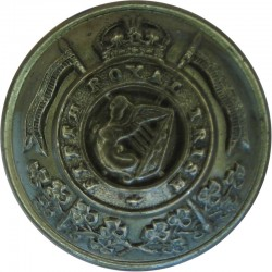 16th/5th The Queen's Royal Lancers 23mm with King's Crown. Brass Military uniform button