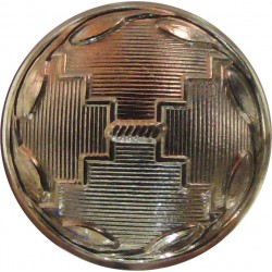Adjutant General's Corps - 1st Pattern: Death's Head 14mm - Gold Colour  Anodised Staybrite military uniform button
