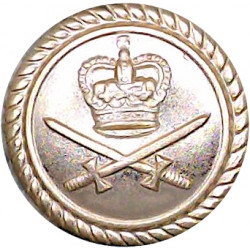 Army Department Fleet (Royal Corps Of Transport) 17.5mm - Gold Colour with Queen Elizabeth's Crown. Anodised Staybrite military