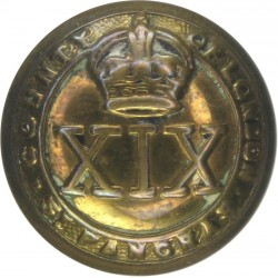 19th (County Of London) Battalion (St Pancras) 19.5mm with King's Crown. Brass Military uniform button