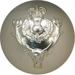 Queen's Own Highlanders (Seaforth & Cameron) 25.5mm - Gold Colour with Queen Elizabeth's Crown. Anodised Staybrite military unif