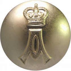 Queen Alexandra's Royal Army Nursing Corps 26mm - Gold Colour with Queen Elizabeth's Crown. Anodised Staybrite military uniform