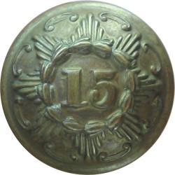 15th (York East Riding) Regiment Of Foot 18.5mm - 1855-1881  Brass Military uniform button