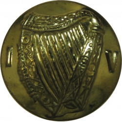 Irish Defence Forces - Army - Harp With Letters IV 16.5mm  Brass Military uniform button
