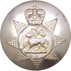 Queen's Regiment - 1967-1992 26mm - Gold Colour with Queen Elizabeth's Crown. Anodised Staybrite military uniform button